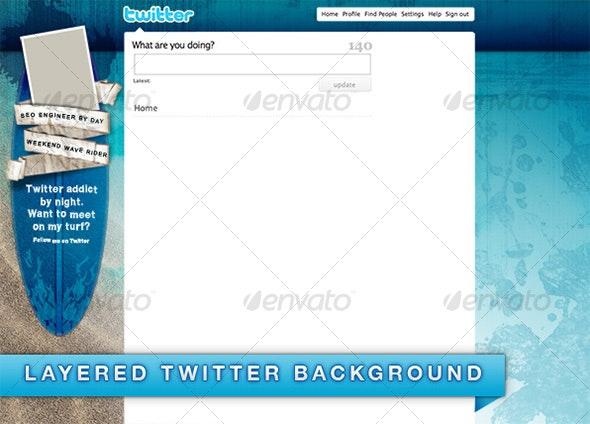Surfer Background for Twitter