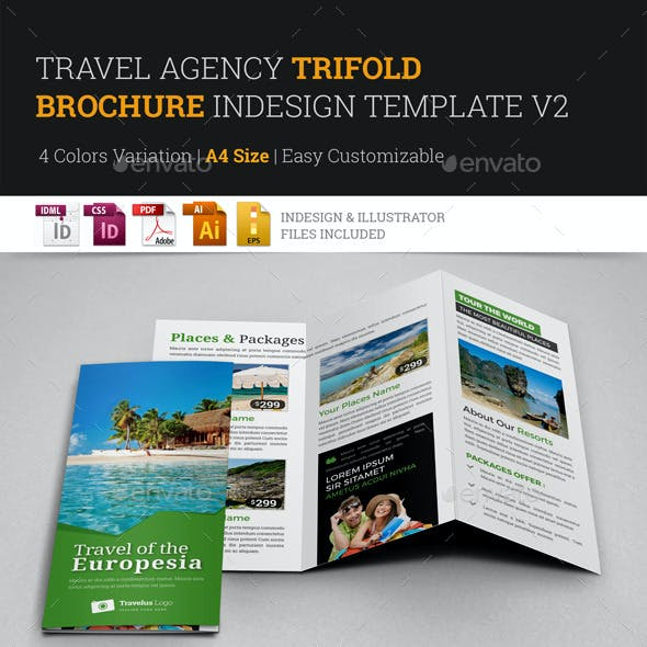 Travel Trifold Brochure InDesign Template v2