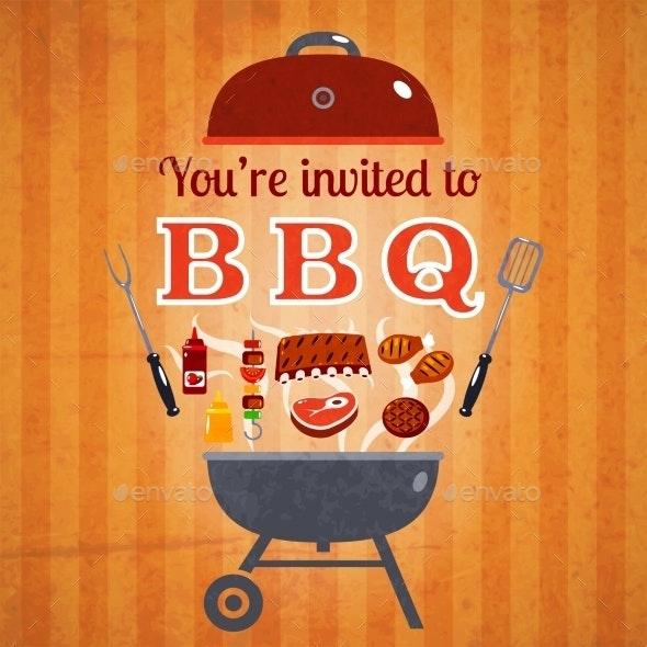 Barbecue Invitation Event Advertisement Poster - Miscellaneous Conceptual
