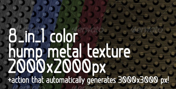 8 in 1 color Hump Metal Texture +  Action - Metal Textures