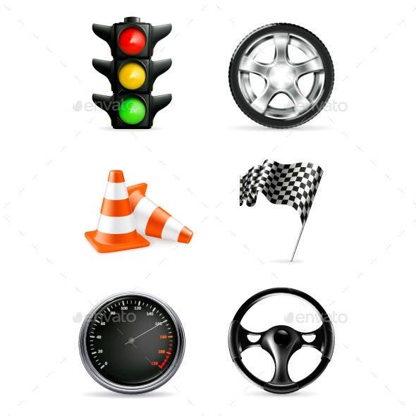 Road Illustration Icons