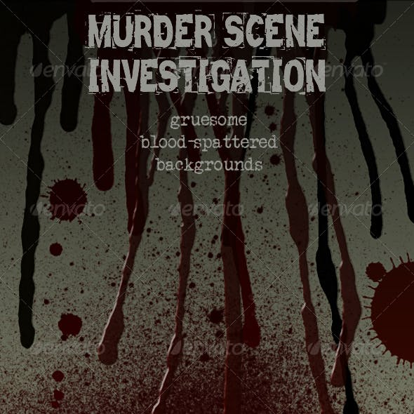 Crime Scene - blood spatter and drips