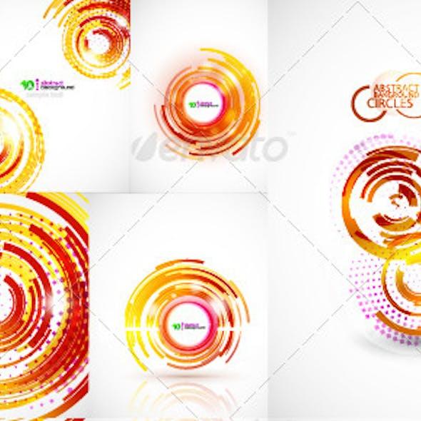 Abstract techno circles