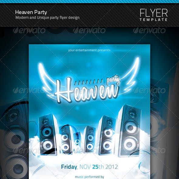 Heaven Party Flyer
