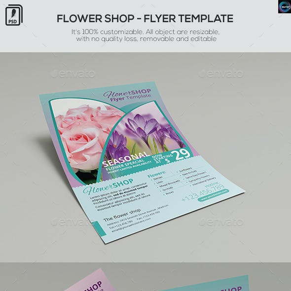 Flower Shop - Flyer Template
