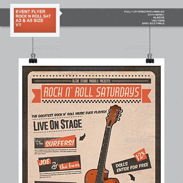 Flyer - Poster: Rock And Roll Saturdays