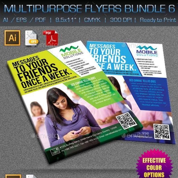 Creative Multipurpose Flyers Bundle 6