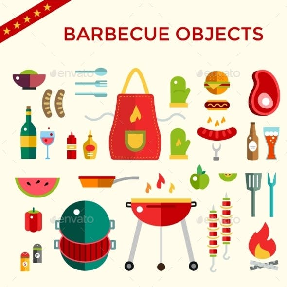 Barbecue and Food Icons