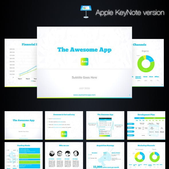 App Startup Keynote Template