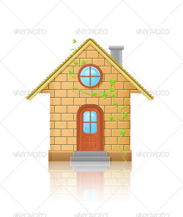 Small House Illustration - Buildings Objects