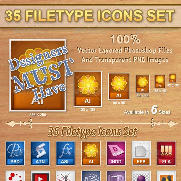 35 Filetype Icons Set