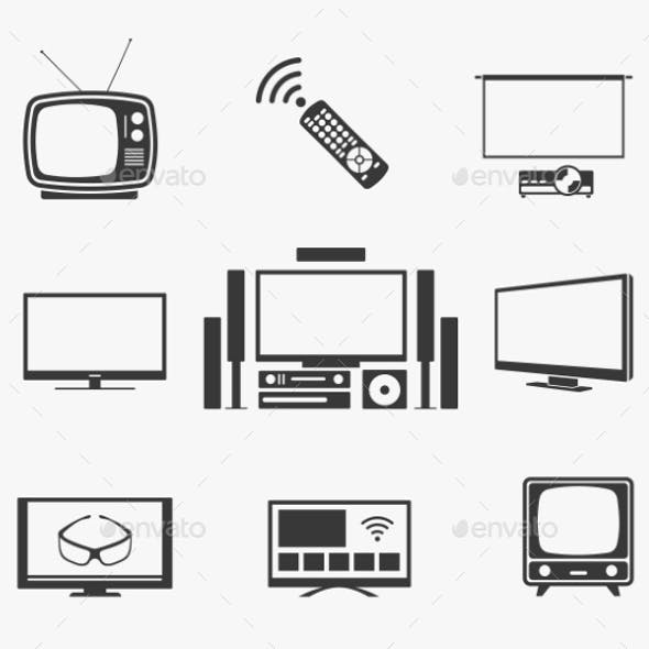 Retro Home Theater Icons