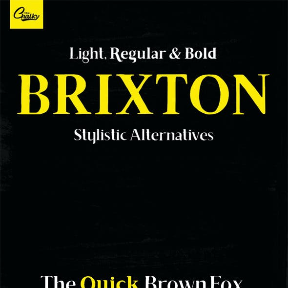Brixton - Handcrafted Font