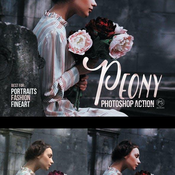 Peony Photoshop Toning Action