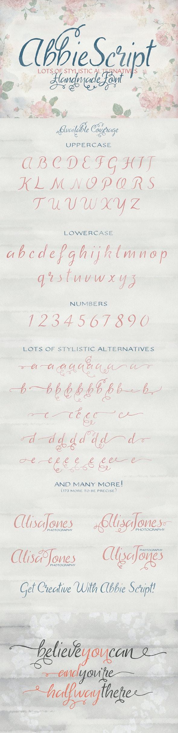 Abbie Script Pro - Script Fonts