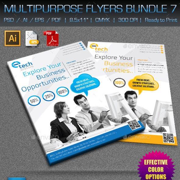 Creative Multipurpose Flyers Bundle 7