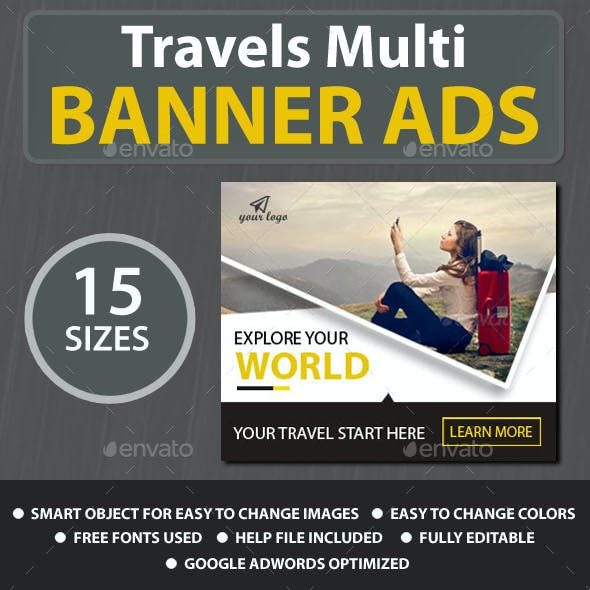 Travels Web Banner Ads
