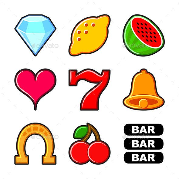 Slot Machine Icons Set