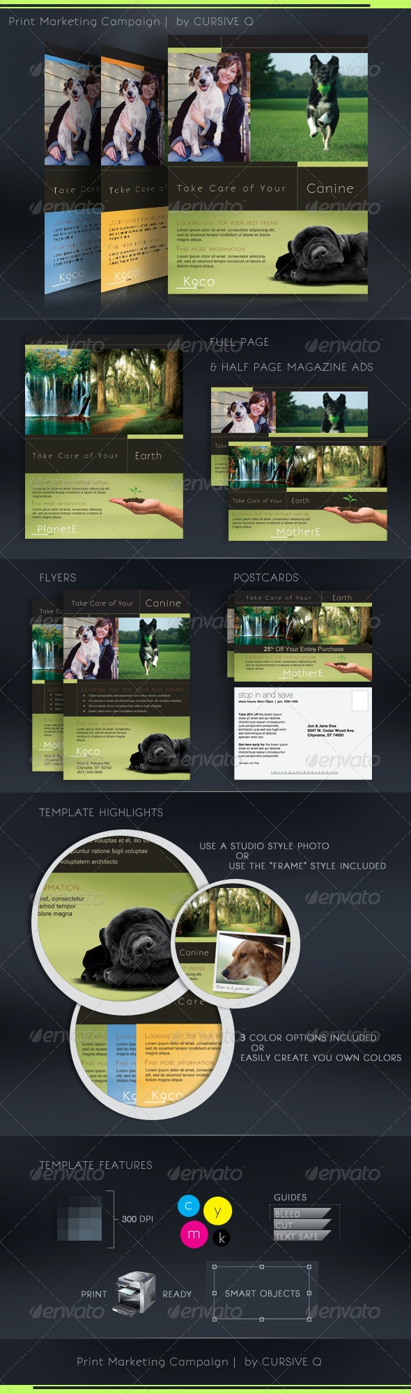 Print Marketing Campaign Template Set - Clubs & Parties Events