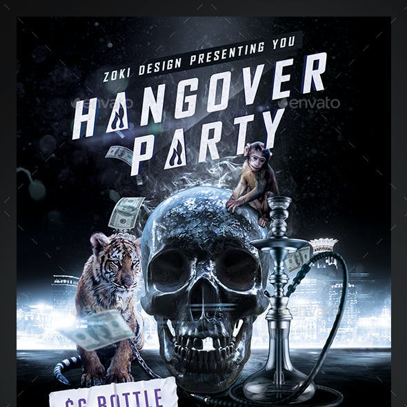 Hangover Party Flyer