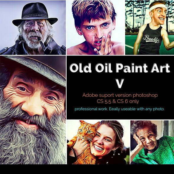 Old Oil Paint Art V