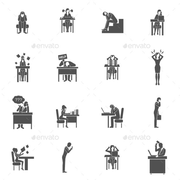 Frustration Icons Set