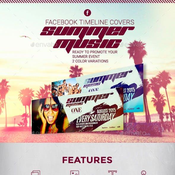 Summer Music - Facebook Timeline Covers