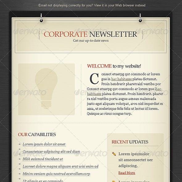 Elegant Vintage Email Newsletter