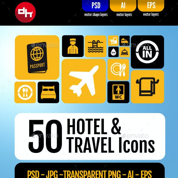 Hotel & Travel Icons Pack