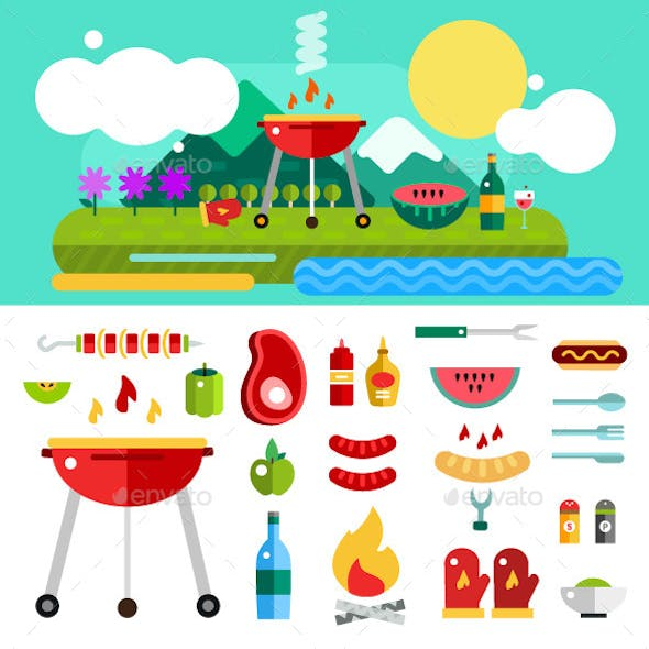 Barbecue and Food Outdoor