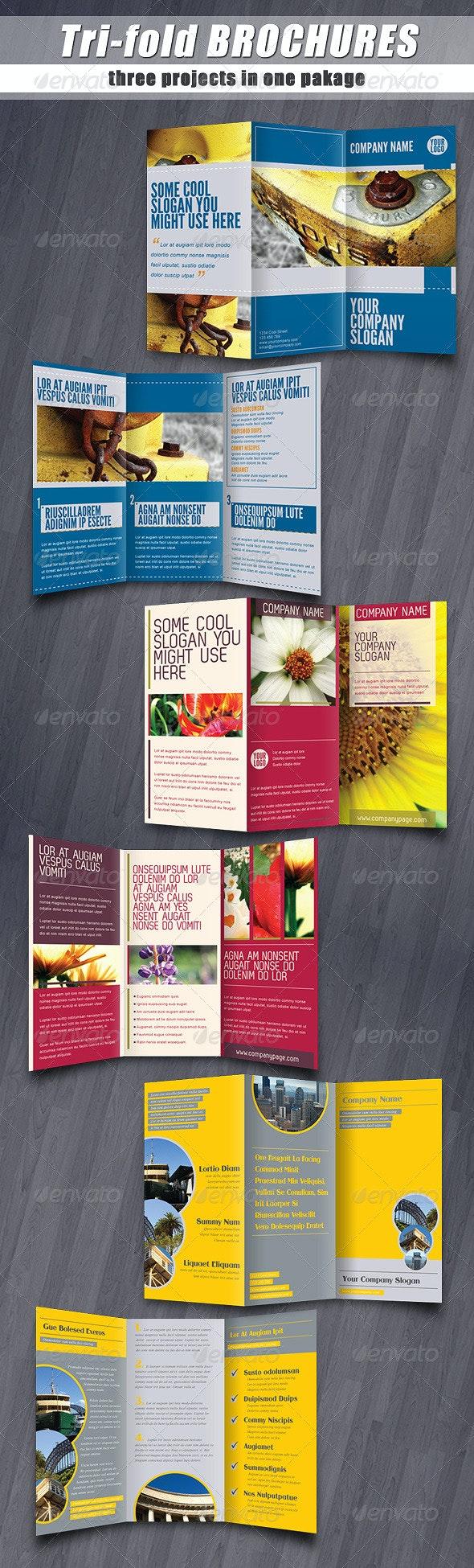 Tri-fold brochures PACK - Corporate Brochures