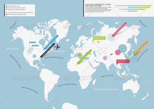 Get Minimal - World Map - Miscellaneous Print Templates