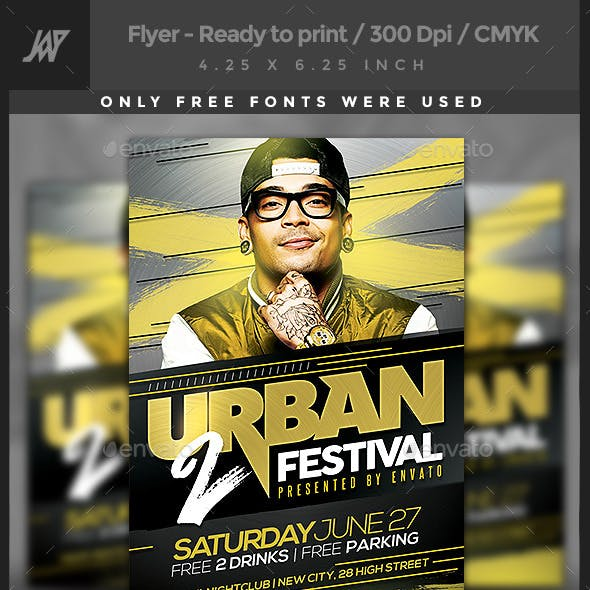 Urban Music Party Flyer