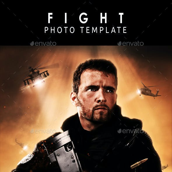 Fight Photo Template