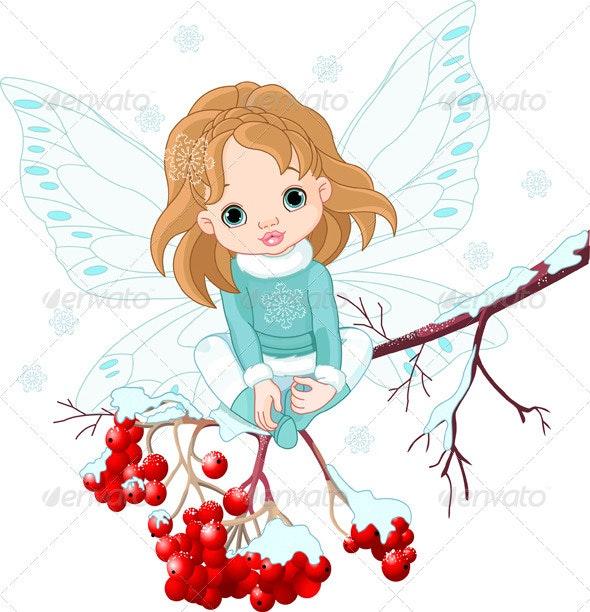 Winter Baby Fairy  - Characters Vectors