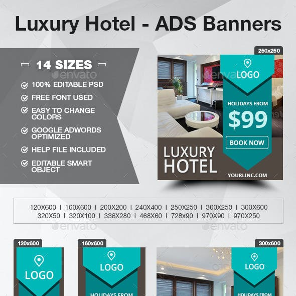 Luxury Hotel - ADS Banners