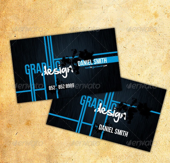 Modern Business Card - No. 8 - Grunge Business Cards