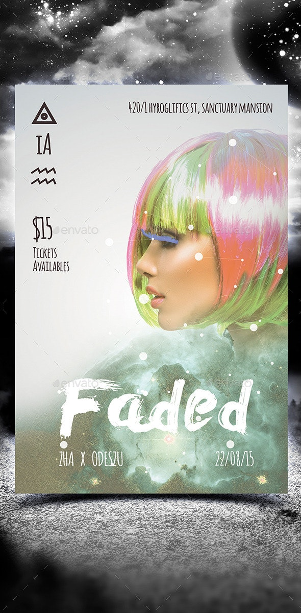 Faded Party Flyer - Clubs & Parties Events