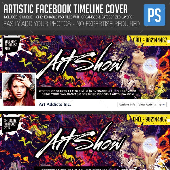Artistic Facebook Timeline Cover Photo Template
