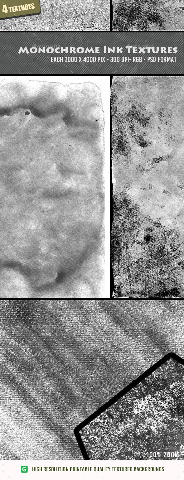 Monochrome Ink Texture Pack 16