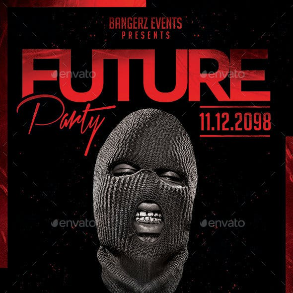 Future Party | Hip-Hop Night Flyer PSD Template