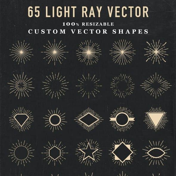 Light Ray Vector Shape
