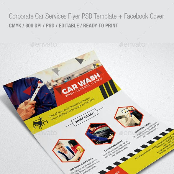 Corporate Car Services Flyer