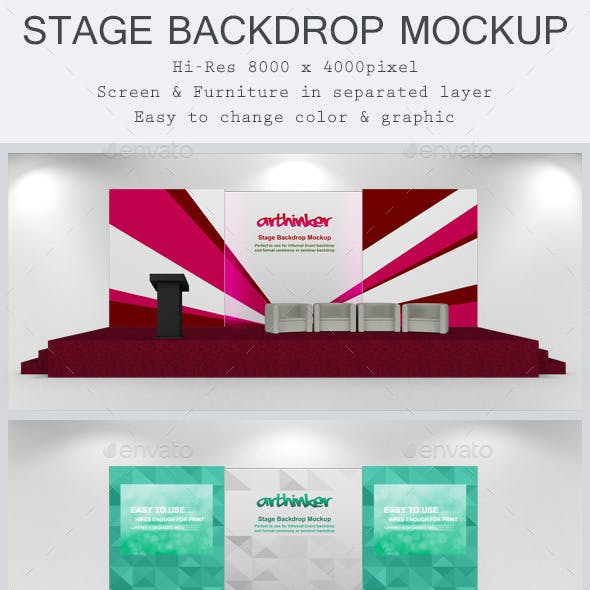 Stage Backdrop Mockup