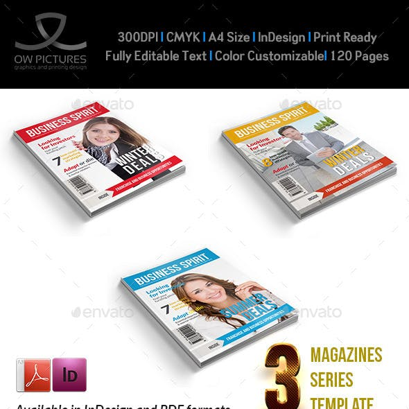 3 Series Magazines Bundle Template - 104