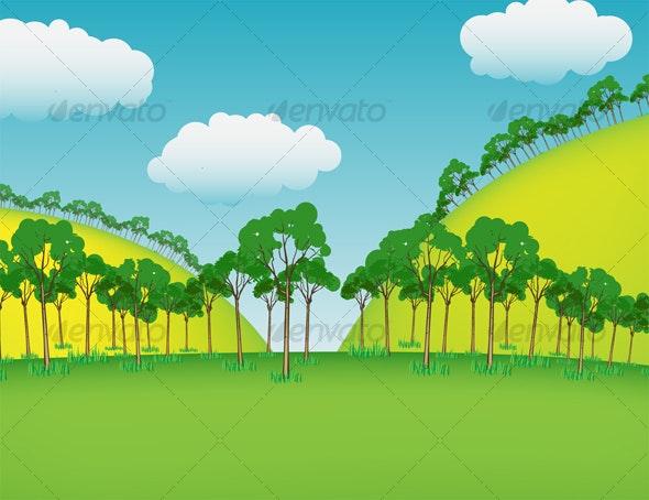 Cartoon Background 1 - Landscapes Nature