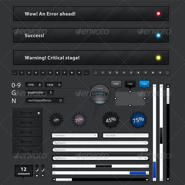 Ultimate Web Elements pack 1.1 Dark Edition