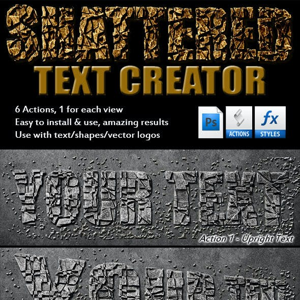 Shattered Text Creator