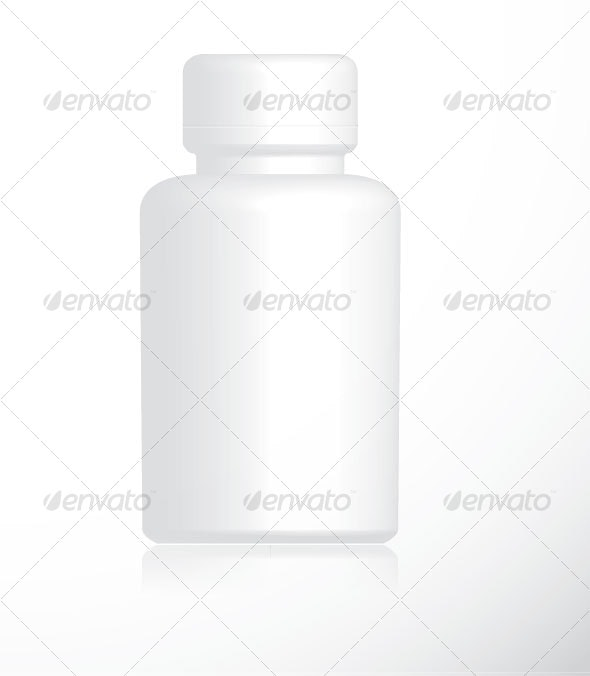 Vector Empty Pill Bottle - Man-made Objects Objects