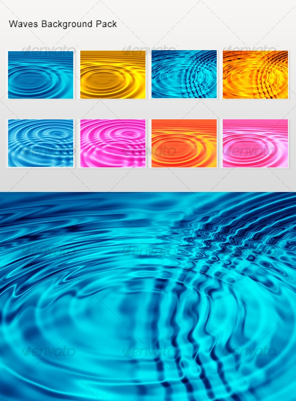 Waves backgrounds templates for web sites - Backgrounds Graphics